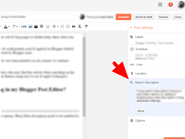 Easy Fix Search or Meta Description Missing Blogger Theme