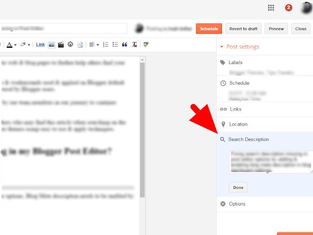 Easy Fix Search or Meta Description Missing Blogger Theme