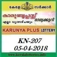 KARUNYA PLUS (KN-207) LOTTERY RESULT