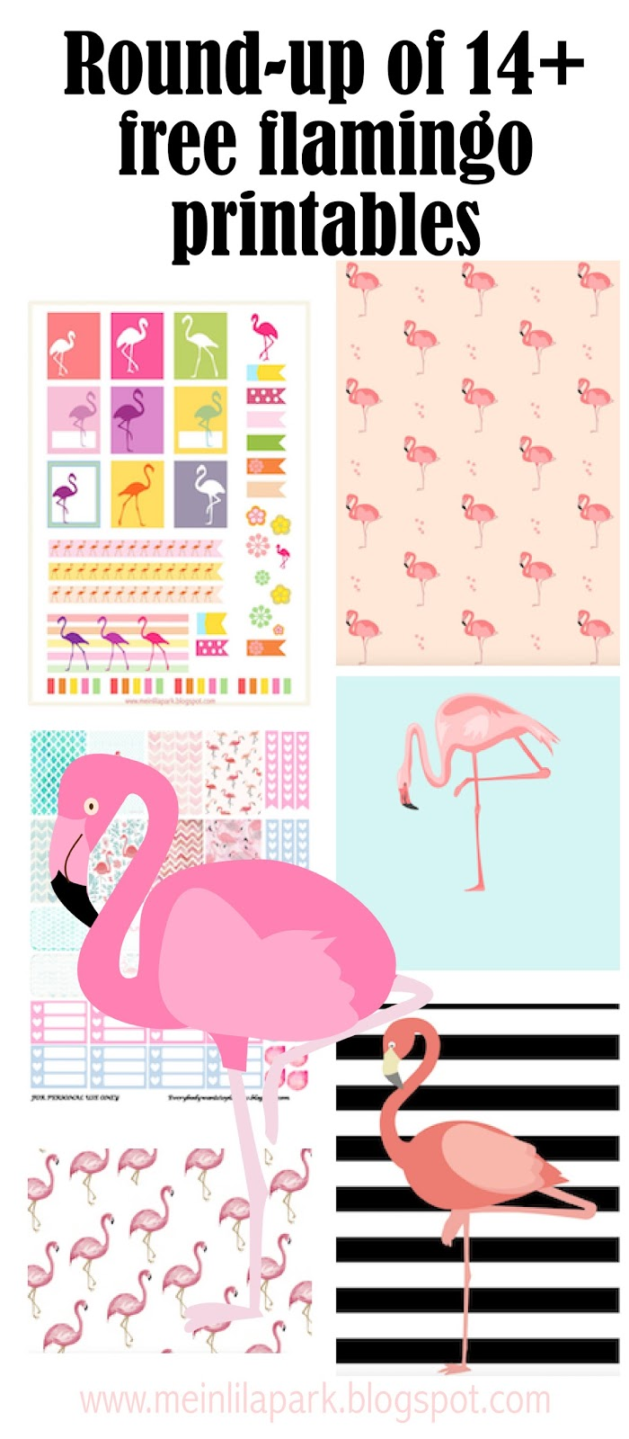 Free Flamingo Printables - Flamingos - Round-up