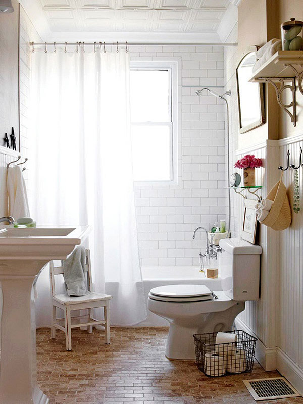 Hogares frescos 30 ideas para cuartos de ba os peque os y - Banos pequenos decorados ...