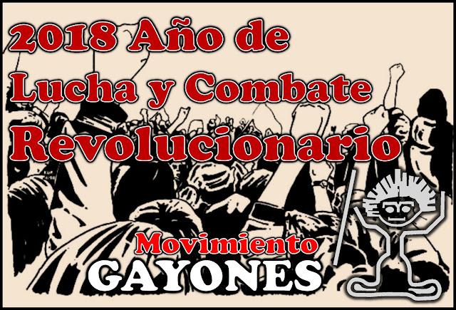 2018 Año de Lucha y Combate Revolucionario. Nuestros deseos para este año nuevo