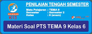 Materi Soal PTS UTS Tema 9 Kelas 6 Semester 2 Terbaru