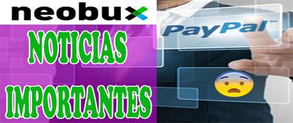 Paypal Abandona Neobux Julio 2017