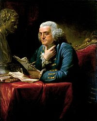 Benjamin Franklin by David Martin, 1767 Wikipedia