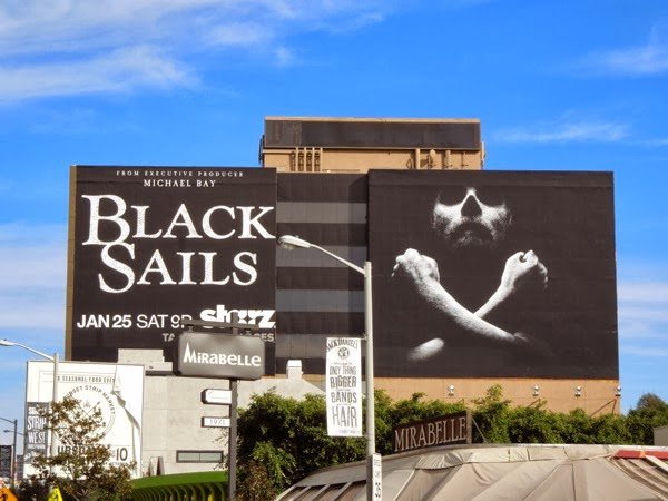 Giant Black Sails series premiere billboard