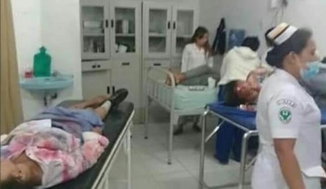 Para siswa SMA Air Langga Pematangsiantar yang masuk ke jurang saat berada di rumah sakit