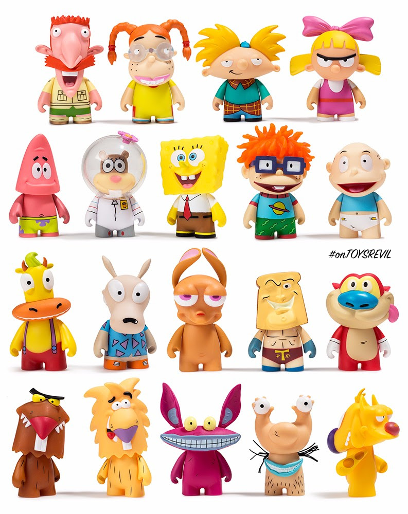 nickelodeon nick 90s blind box mini series from kidrobot available