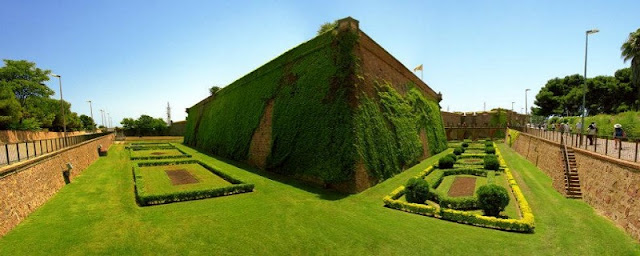 Jardins del Castell em Montjuic