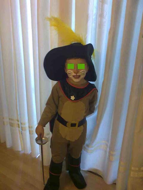 disfraz casero de Gato de Shrek