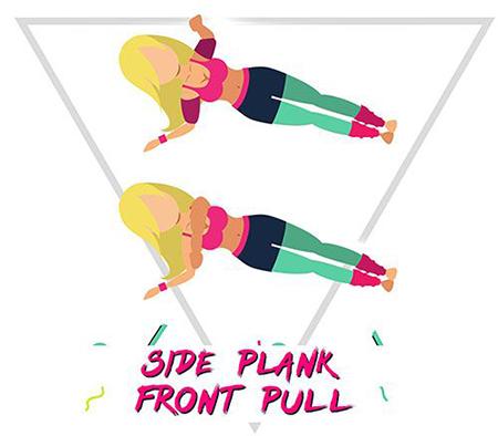 Mẹo giảm béo lưng bằng các động tác plank nghiêng