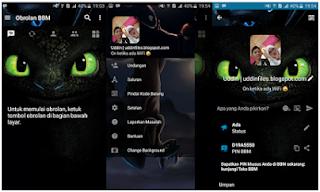 BBM MOD Night Fury APK V3.1.0.13 terbaru
