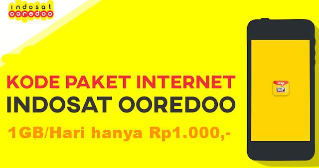 Kode Paket Internet Indosat Murah - Hanya 1000,- Dapat 1GB