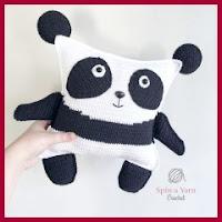Panda cuadrado amigurumi