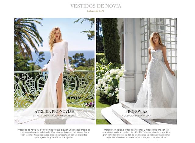 Nueva colección 2017 de vestidos de novia de Pronovias