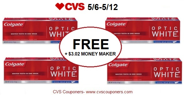 http://www.cvscouponers.com/2018/05/free-302-money-maker-for-colgate-optic.html