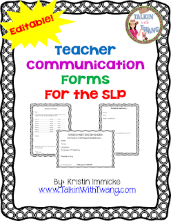 SLP-Teacher Communication Forms