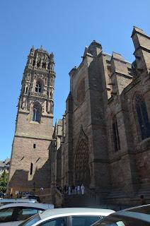 Portada nord i campanar de la catedral de Rodez
