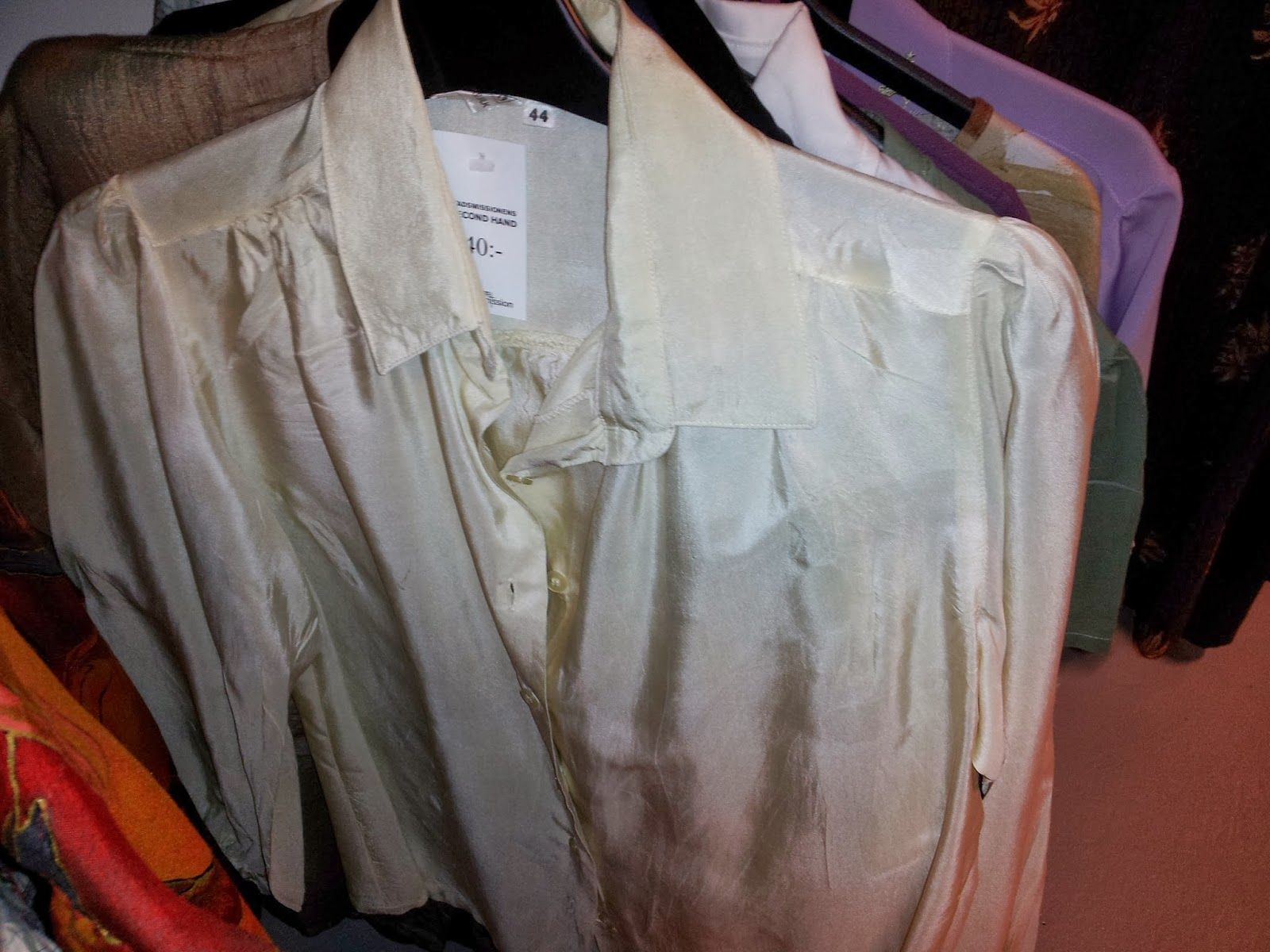 0f2f5bcbe4 Pure silk blouse that unfortunately has been mistreated by washing in to  high temperature. You can feel the difference - silk should be soft at  touch, ...