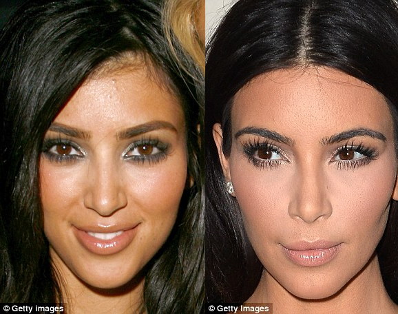 kim kardashian denies having a nose job but admits it looks smaller this is miss petite. Black Bedroom Furniture Sets. Home Design Ideas