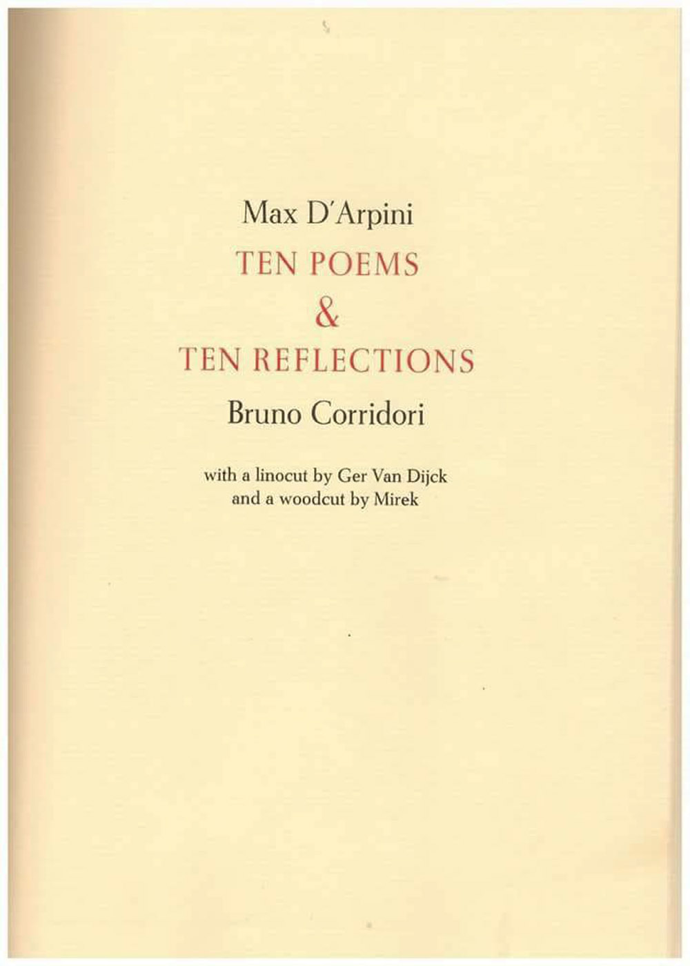 TEN POEMS & TEN REFLECTIONS