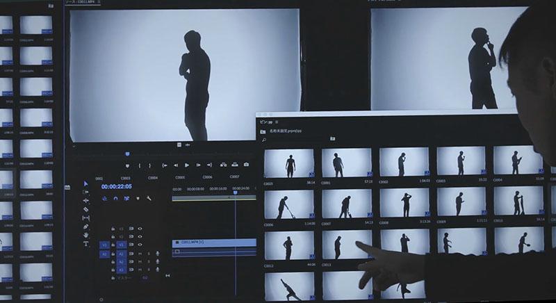 Видеомонтаж ролика с силуэтами