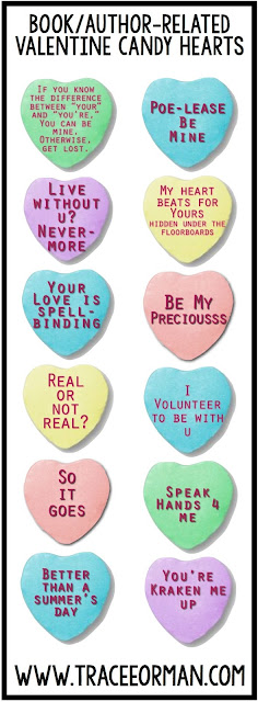 Valentine's Day Book Author Candy Hearts www.traceeorman.com