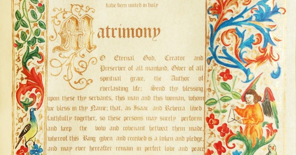 Handmade Ceremony Certificates: Wedding Blessing - Medieval