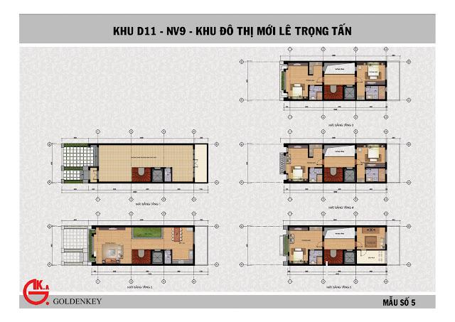 Mẫu thiết kế liền kề số 5, khu NV9, D11, The Green Daisy