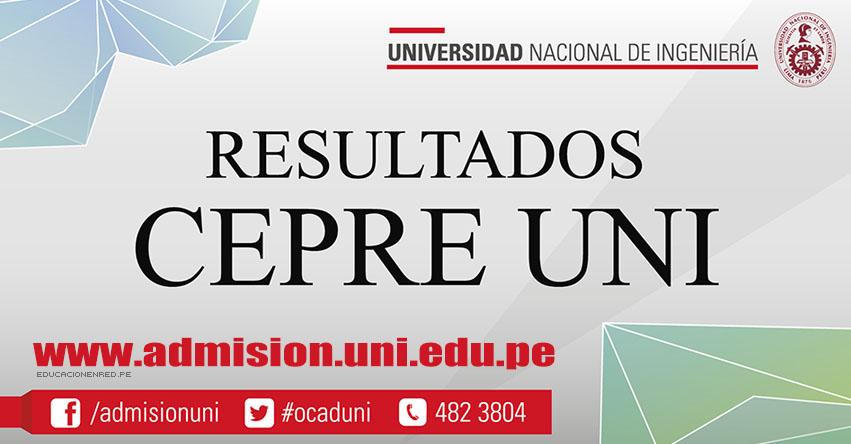 Resultados CEPRE-UNI 2017-1 (28 Enero) Examen Vocacional - Universidad Nacional de Ingeniería - www.cepre.uni.edu.pe | www.uni.edu.pe