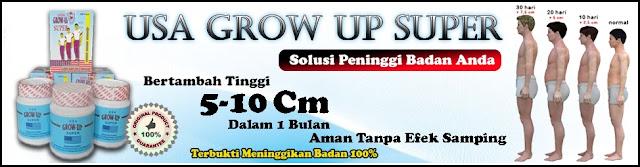 Grow UP Asli USA (Original) Obat Peninggi Badan Herbal Tercepat 100% Permanen