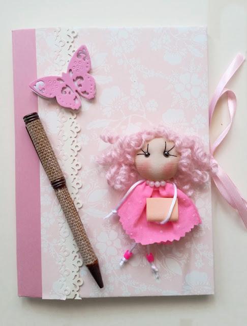 Cuaderno para profe en rosa