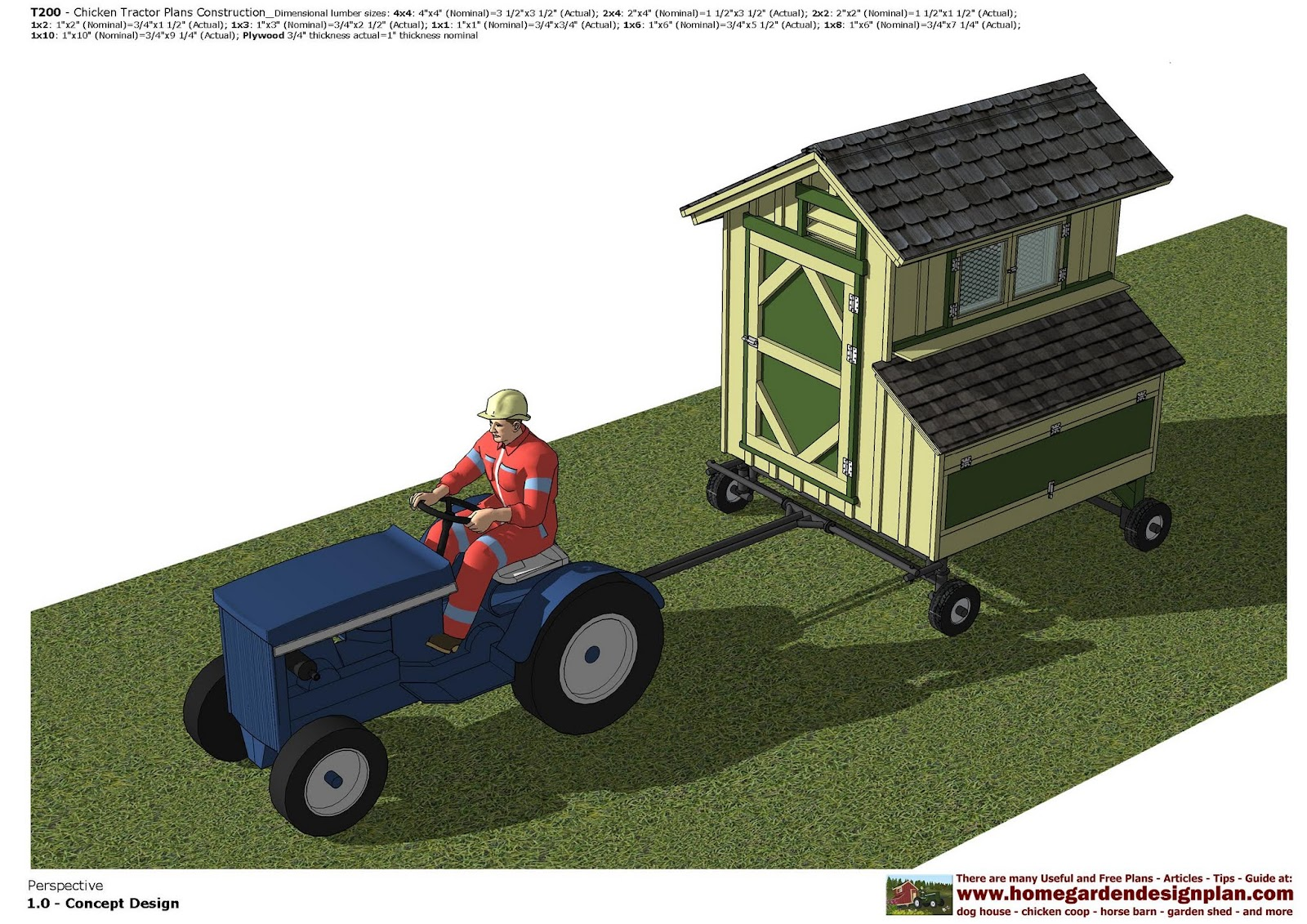Home Garden Plans T200 Chicken Tractor Plans Construction Chicken Trailer Plans