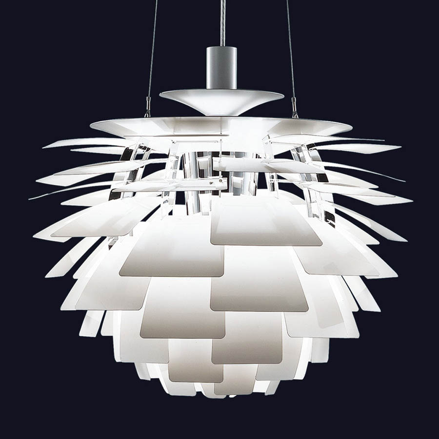 White Louis Poulsen Ph Artichoke Pendant Lamp