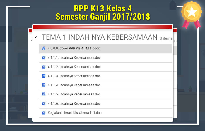 RPP K13 Kelas 4 Semester Ganjil 2017/2018