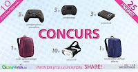 Castiga 5 gamepad-uri pentru smartphone + 5 minitastaturi + 10 ochelari VR + 1 rucsac laptop