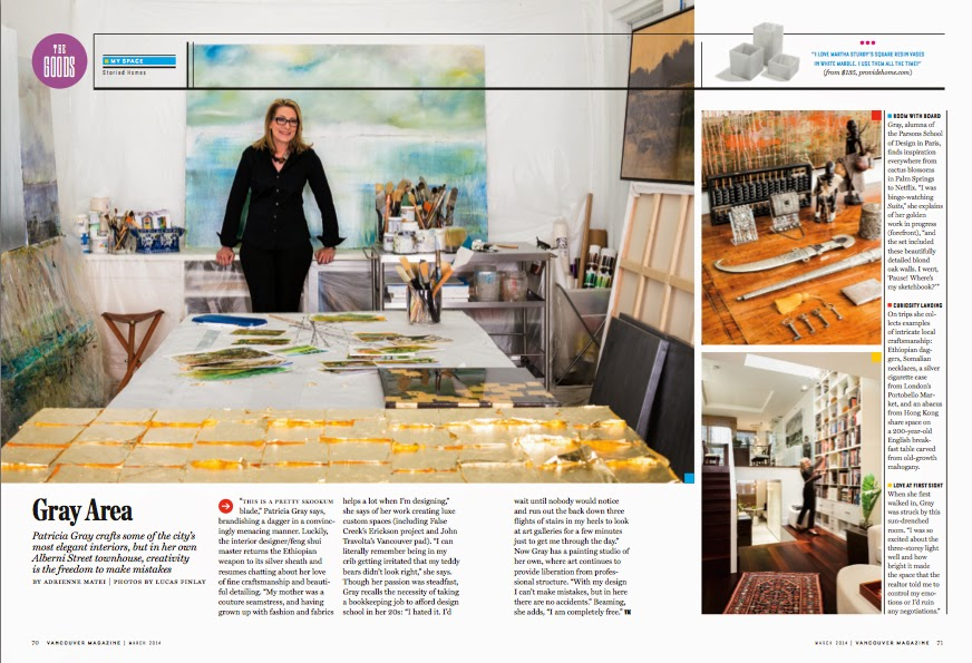 Patricia Gray Interior Design | Vancouver Magazine · Thank You Adrienne  Matei For The Great Article In Vancouver Magazine And Lucas Finley,  Photographer.