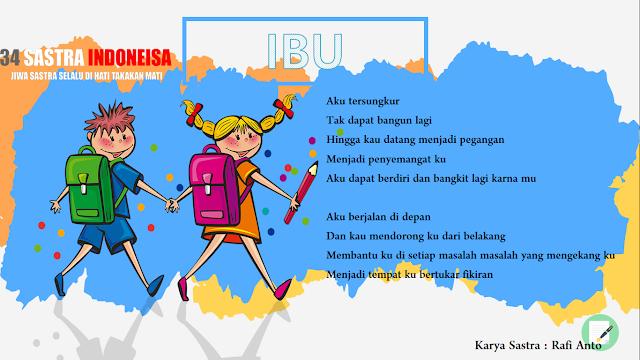 Puisi sayang ibu | 34 Sastra Indonesia