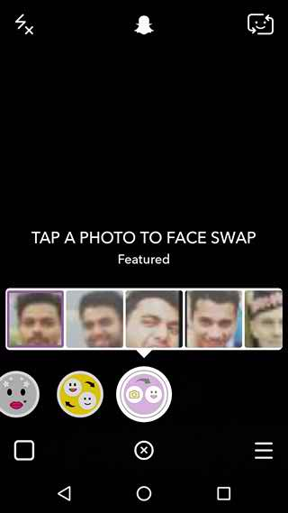 Snapchat Swap Faced with lens pictures