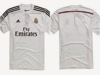a01642b652c19 Los pantalones y las medias de la primera equipación del Real Madrid  2014-2015 serán blancos con pequeños detalles en rosa.