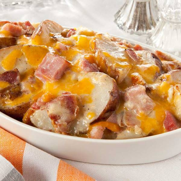REcette Gratin de pommes de terre et de jambon
