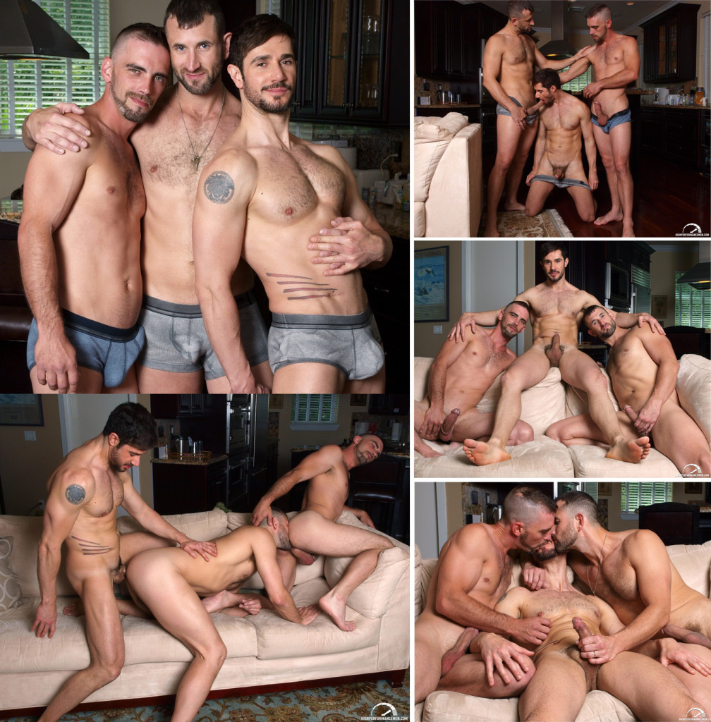 Sexo gay a três - Joe Parker, CJ Parker e Dean Monroe -2