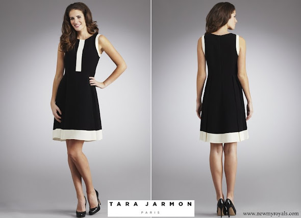 Princess Marie wore Tara Jarmon Crepe Wool Dress Black