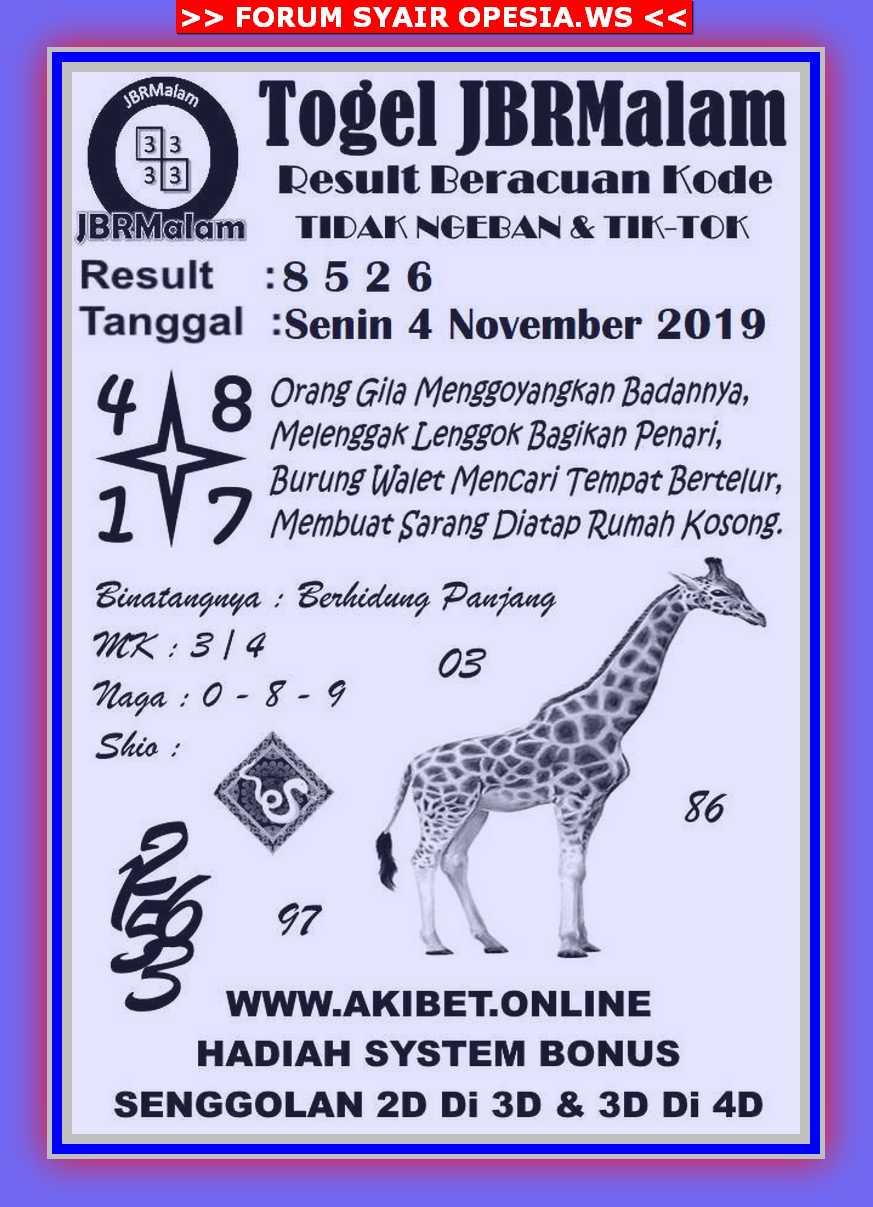 Kode syair Singapore Senin 4 November 2019 76
