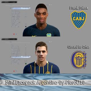 Faces Liga Argentina, Frank Fabra, Giovani Lo Celso, Pes 2013