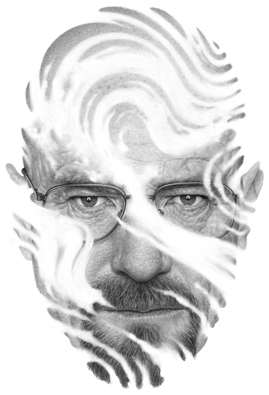 12-Walter-White- Breaking-Bad-TNR-Boris-Pelcer-Marriage-of-Traditional-and-Digital-Art-www-designstack-co