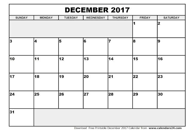December 2017 Calendar, 2017 Calendar. Calendar 2017, Monthly Calendar 2017