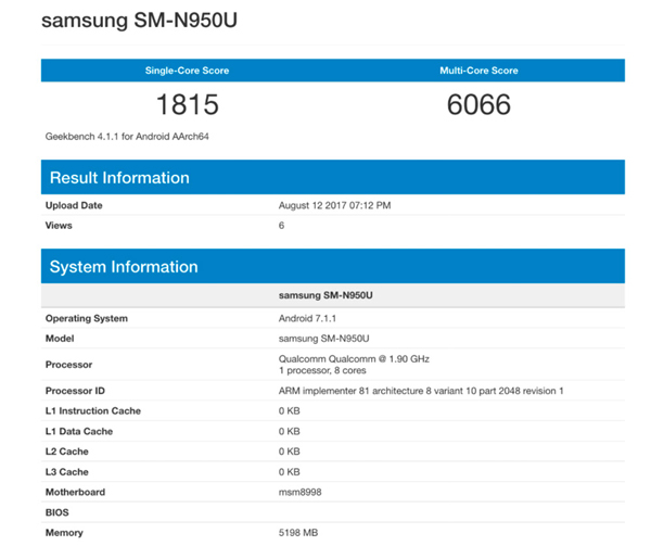 Samsung Galaxy Note 8 Benchmark - 2