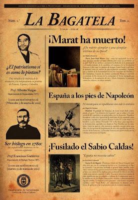 Historia Del Periodismo: Historia de LA BAGATELA