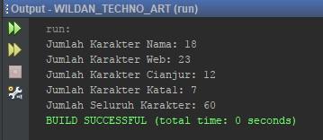 Contoh kedua penggunaan fungsi length String pada Java